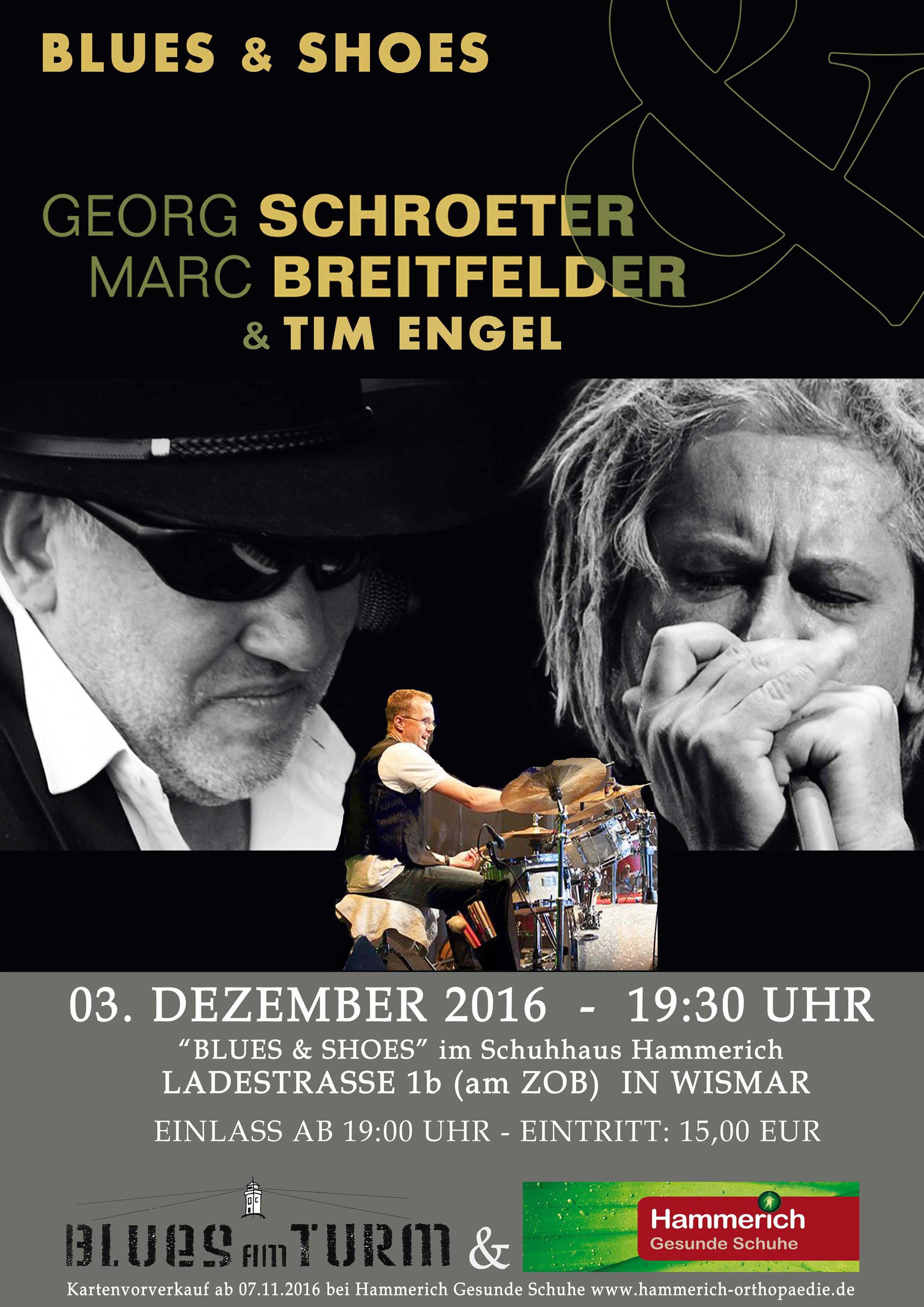 Blues & Shoes Konzert bei Hammerich Gesunde Schuhe